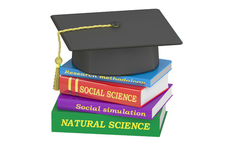 natural science: natural science education, 3D rendering isolated on white background