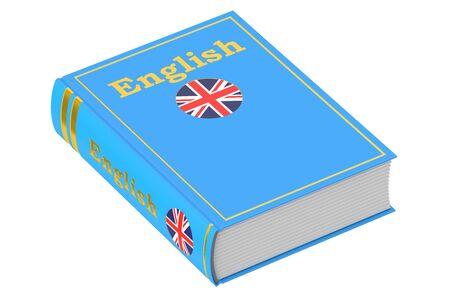 English language textbook, 3D rendering