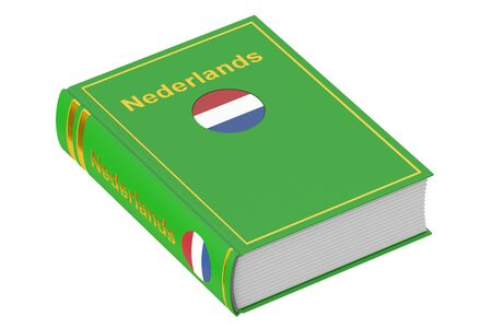 netherlandish: Netherlandish language textbook, 3D rendering isolated on white background Stock Photo