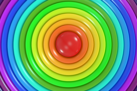 rainbow colors: Abstract rainbow colors circle background, 3D rendering