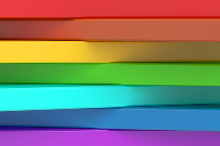 rainbow colors: Abstract rainbow colors wave background, 3D rendering