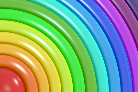 rainbow colors: Abstract rainbow colors background, 3D rendering