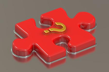 questionmark: Question mark puzzle, 3D rendering