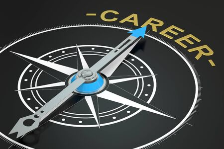 ambitions: Career concept, 3D rendering Stock Photo