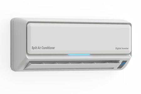 air conditioner: Air conditioner, 3D rendering isolated on white background Stock Photo
