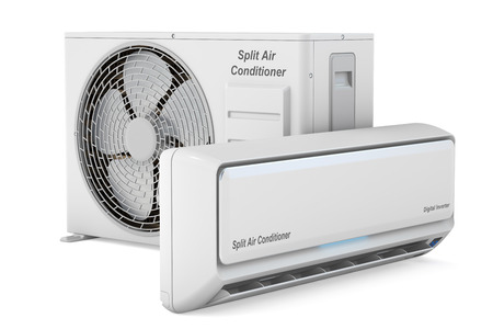 air conditioner: modern air conditioner system, 3D rendering Stock Photo