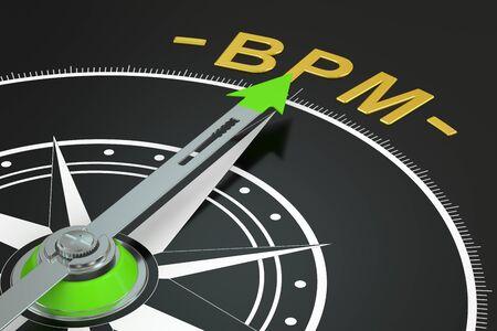 flechas direccion: BPM compás concepto, 3D Foto de archivo