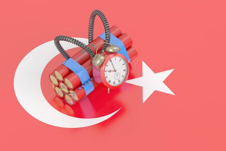 threat of violence: Turkey terror attack concept, 3D rendering Stock Photo