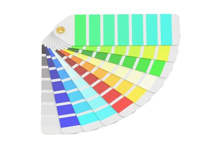 pantone: Pantone color palette guide, 3D rendering isolated on white background Stock Photo