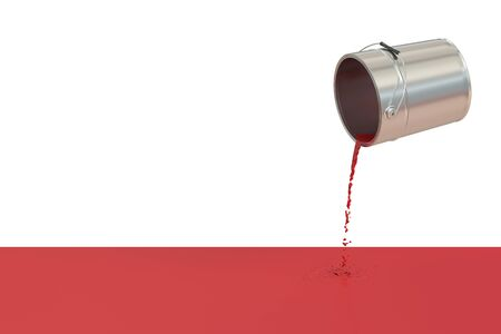 spilled paint: Red spilled paint concept, 3D rendering