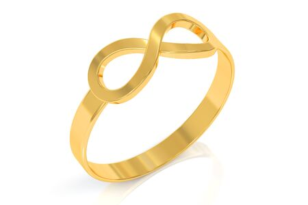 matrimony: infinity ring, 3D rendering isolated on white background Stock Photo