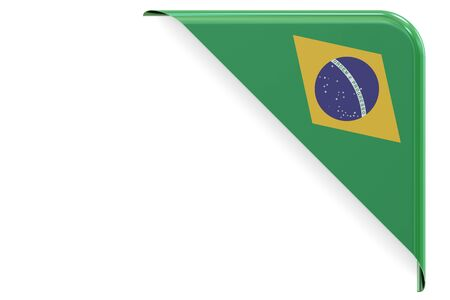 made to order: Brazilian corner, button. 3D rendering isolated on white background