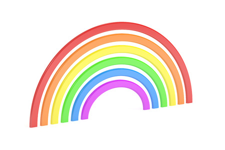 3d rainbow: Rainbow, 3D rendering isolated on white background