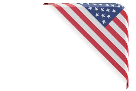 made to order: USA corner, button. 3D rendering isolated on white background