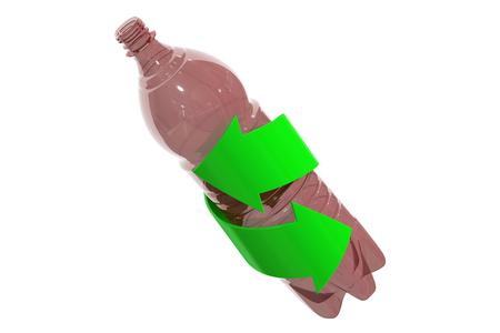 basura organica: Concepto de reciclaje, procesamiento de 3d aislado en el fondo blanco Foto de archivo