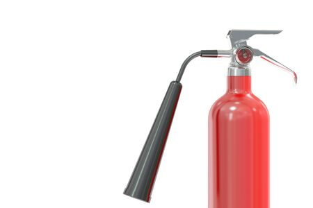 fire extinguisher, 3D rendering isolated on white background Stock Photo