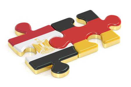 bandera de egipto: Alemania y Egipto rompecabezas de banderas, 3D