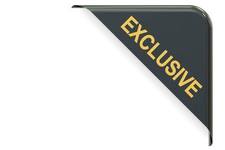 exclusive: Exclusive black corner. 3D rendering