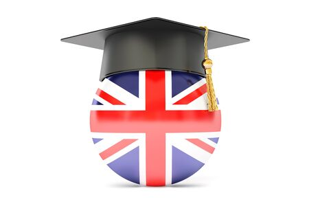 education in Great Britain concept, 3D rendering Stock Photo