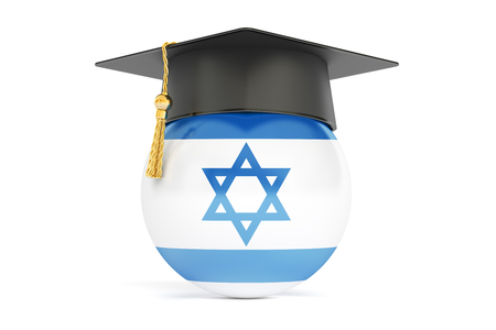 master degree: education in Israel, concept, 3D rendering isolated on white background