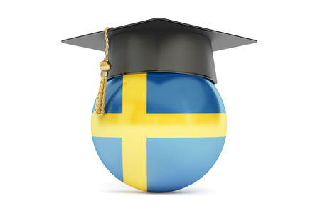 education in sweden: education in Sweden, concept, 3D rendering isolated on white background