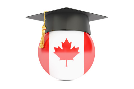 education and study in Canada concept, 3D rendering isolated on white background Stock Photo
