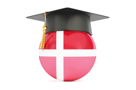 alumnus: education and study in  Denmark concept, 3D rendering isolated on white background