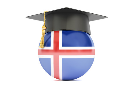 alumnus: education and study in Iceland concept, 3D rendering isolated on white background Stock Photo