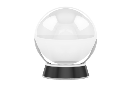 crystal ball, 3D rendering isolated on white background