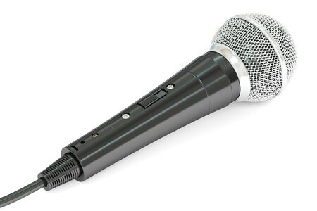 microphone, 3D rendering isolated on white background Stock Photo