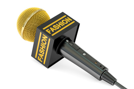 microphone fashion news concept, 3D rendering