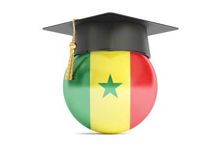 education in Senegal concept, 3D rendering isolated on white background
