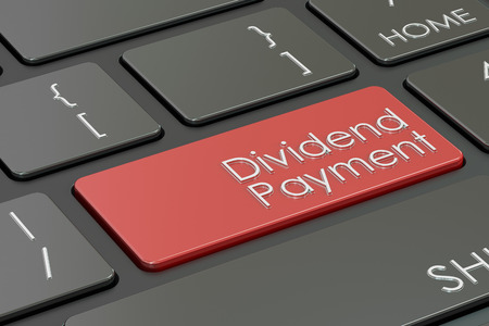dividend: Dividend Payment keyboard button, 3D rendering Stock Photo