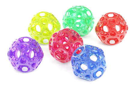 3d rendering: abstract colored balls, 3D rendering Stock Photo