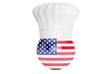 american cuisine: American cuisine concept, 3D rendering