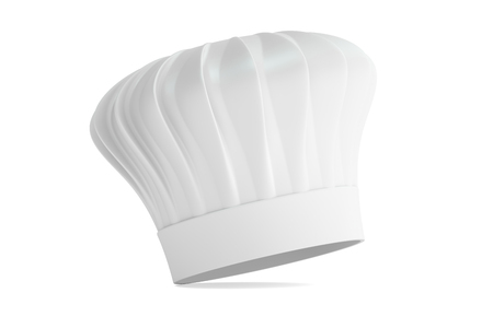 toque blanche: Chefs Hat, 3D rendering isolated on white background Stock Photo