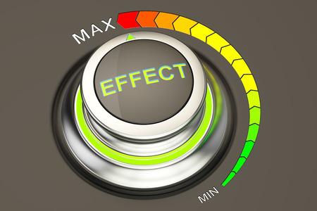 effect: effect concept, highest level of effect. 3D rendering