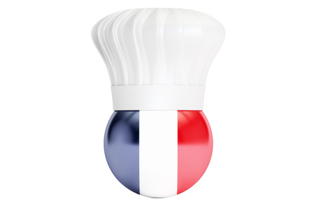 french cuisine: French cuisine concept, 3D rendering Stock Photo