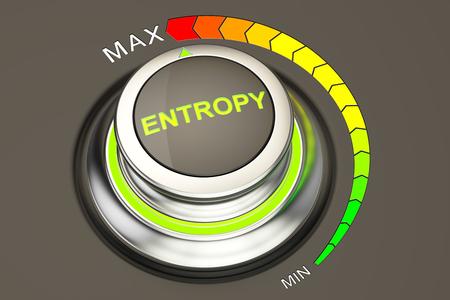entropy: high entropy concept, 3D rendering