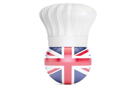 britain: Britain cuisine concept, 3D rendering