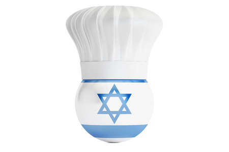 cook out: Israeli cuisine concept, 3D rendering