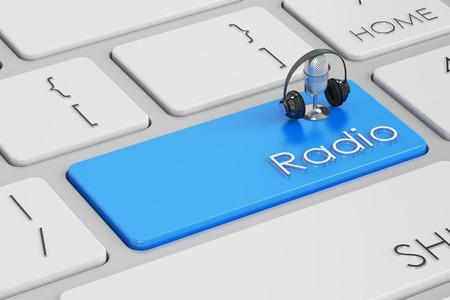 radio button: radio button, key on  keyboard. 3D rendering Stock Photo