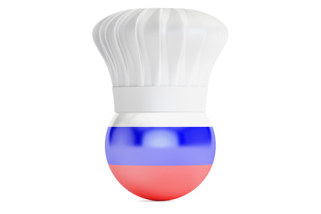 cook out: Russian cuisine concept, 3D rendering