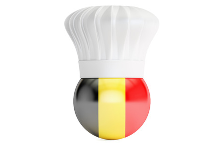 Belgian cuisine concept, 3D rendering Stock Photo
