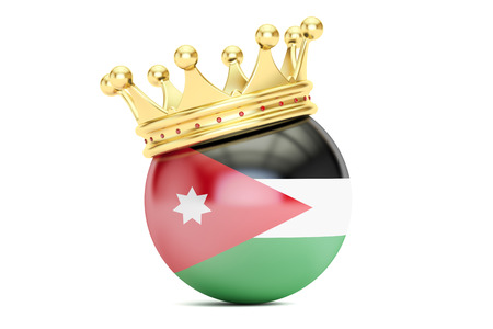the hashemite kingdom of jordan: Crown with flag Hashemite Kingdom of Jordan, 3D rendering