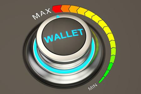 at the highest: Wallet controller, highest level concept. 3D rendering