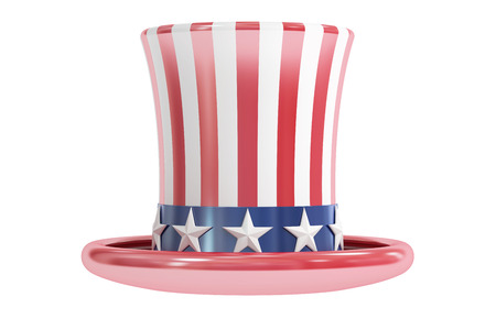 sam: Uncle Sam hat, American Hat, 3D rendering