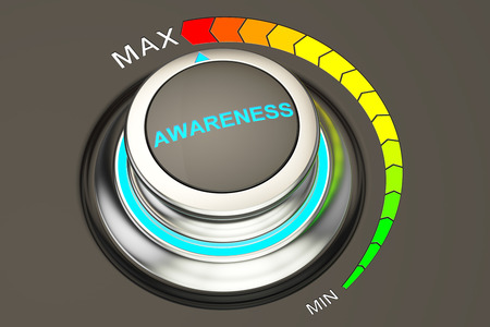 max level of awareness concept, 3D rendering