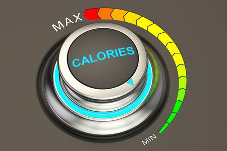 strategic position: min level of calories concept, 3D rendering