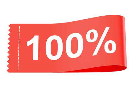 clothing tag: 100% discount clothing tag, 3D rendering